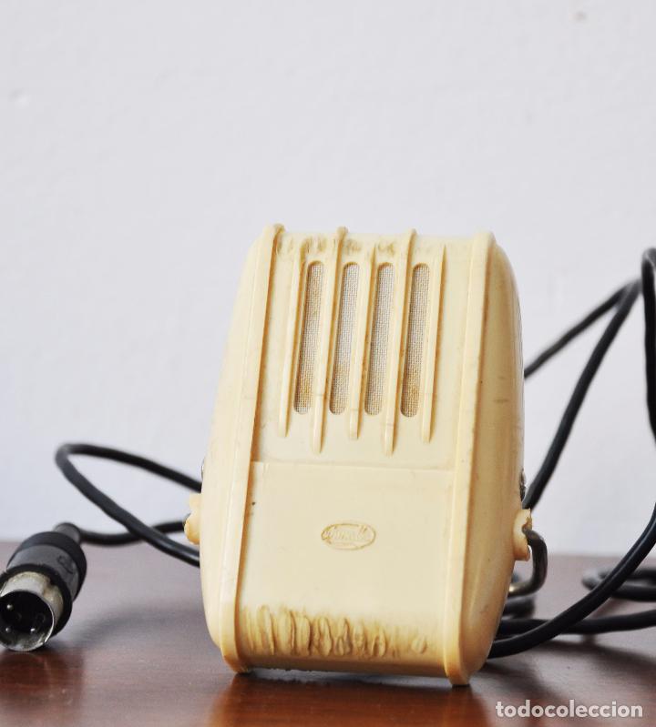 Radios antiguas: MICRÓFONO DE SOBREMESA DE FABRICACIÓN SOVIÉTICA MARCA OKTAVA 1970 a .URSS - Foto 2 - 80171285