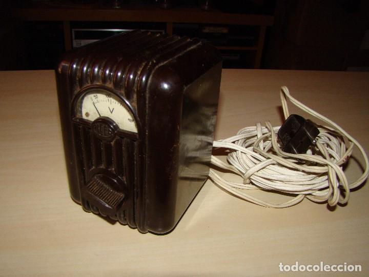 ANTIGUO VOLTIMETRO ALCER (Radios - Aparatos de Reparación y Comprobación de Radios)
