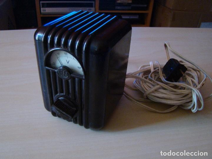 Radios antiguas: Antiguo voltimetro ALCER - Foto 2 - 85136244