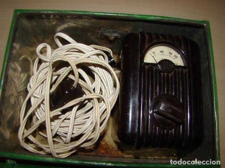 Radios antiguas: Antiguo voltimetro ALCER - Foto 4 - 85136244