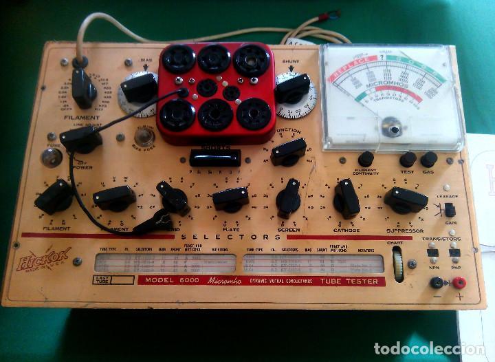 COMPROBADOR DE VALVULAS DE RADIO Y AUDIO HICKOK 6000...SANNA (Radios - Aparatos de Reparación y Comprobación de Radios)