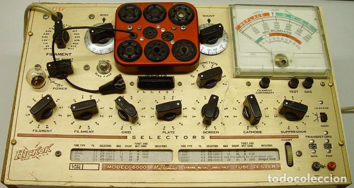 Radios antiguas: Comprobador de valvulas de radio y audio Hickok 6000...sanna - Foto 2 - 88952788