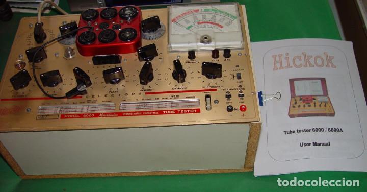 Radios antiguas: Comprobador de valvulas de radio y audio Hickok 6000...sanna - Foto 3 - 88952788