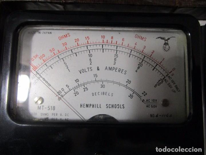 Radios antiguas: MULTIMETRO ANTIGUO MEDIDOR VOLTIMETRO AMPERIMETRO HEMPHILL SCHOOLS MADE IN JAPAN DECADA 70 - Foto 4 - 89202156