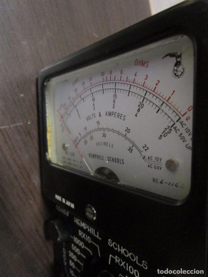 Radios antiguas: MULTIMETRO ANTIGUO MEDIDOR VOLTIMETRO AMPERIMETRO HEMPHILL SCHOOLS MADE IN JAPAN DECADA 70 - Foto 6 - 89202156