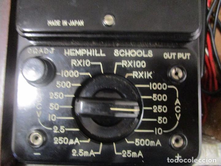 Radios antiguas: MULTIMETRO ANTIGUO MEDIDOR VOLTIMETRO AMPERIMETRO HEMPHILL SCHOOLS MADE IN JAPAN DECADA 70 - Foto 5 - 89202156
