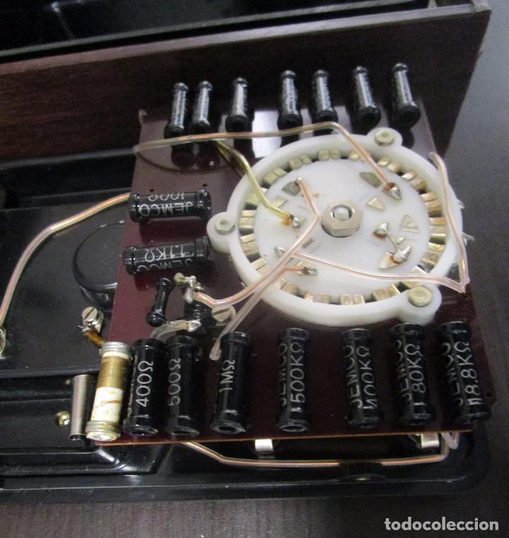 Radios antiguas: MULTIMETRO ANTIGUO MEDIDOR VOLTIMETRO AMPERIMETRO HEMPHILL SCHOOLS MADE IN JAPAN DECADA 70 - Foto 8 - 89202156