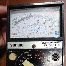 Radios antiguas: TESTER, POLÍMETRO ANALÓGICO SANWA YX-360TR. Lote 89693764