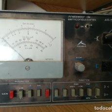 Radios antiguas: ANALIZADOR DE SEMICONDUCTORES PROMAX AS-500 CON MANUAL Y ESQUEMA. Lote 91014540