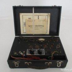 Radios antiguas: ANTIGUO COMPROBADOR DE LÁMPARAS - DE RADIO - RADIÓMETRO - FERNANDO MAYMÓ - INSTRUCCIONES Y TABLAS. Lote 91326855