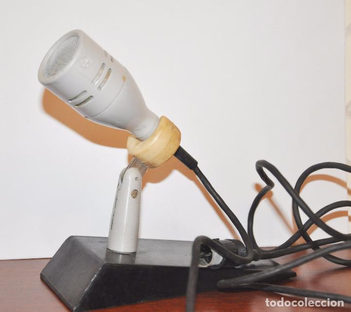 Radios antiguas: MICRÓFONO DE SOBREMESA DE FABRICACIÓN SOVIÉTICA MARCA OKTAVA 1979a CON SU CAJA ORIGINAL.URSS - Foto 4 - 96035060