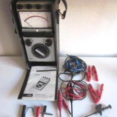 Radios antiguas: MULTÍMETRO ELAVI 6 ELIMA ALEMANIA CON SONDAS, CABLES, PINZAS. FUNDA CUERO ORIGINAL E INSTRUCCIONES . Lote 96831711