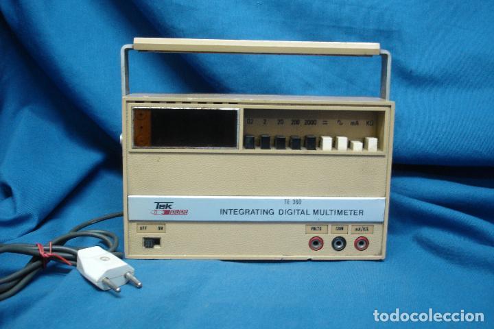 TESTER, MULTIMETER TEK ELEC MDLO. TE 360 (Radios - Aparatos de Reparación y Comprobación de Radios)