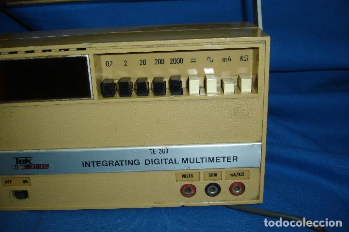 Radios antiguas: TESTER, MULTIMETER TEK ELEC MDLO. TE 360 - Foto 4 - 97637547