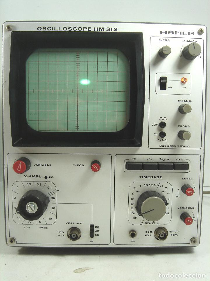 Radios antiguas: OSCILOSCOPIO HAMEG HM-312 ¡¡FUNCIONANDO¡¡ OSCILLOSCOPE HM312 - VALVULAS -ALEMANIA 1980 - Foto 2 - 101938023