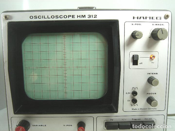 Radios antiguas: OSCILOSCOPIO HAMEG HM-312 ¡¡FUNCIONANDO¡¡ OSCILLOSCOPE HM312 - VALVULAS -ALEMANIA 1980 - Foto 3 - 101938023