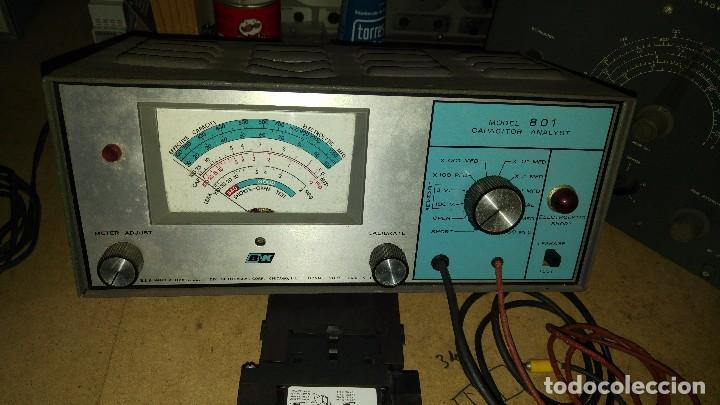 COMPROBADOR DE CONDENSADORES B&K 801 CAPACITOR ANALYST (Radios - Aparatos de Reparación y Comprobación de Radios)