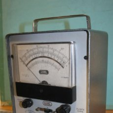 Radios antiguas: VOLTIMETRO A VALVULA LME.. Lote 103430651
