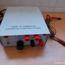 Radios antiguas: EXCELENTE FUENTE DE ALIMENTACION ESTABILIZADA 3V 6V 9V + 12V DE ALTERNA.MAX 2,5 AMPERIOS.. Lote 104033263