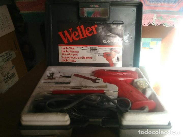 Radios antiguas: kit soldador de pistola marca Weller modelo 8100E/CA 100W 120V Y 220V. - Foto 2 - 104601795