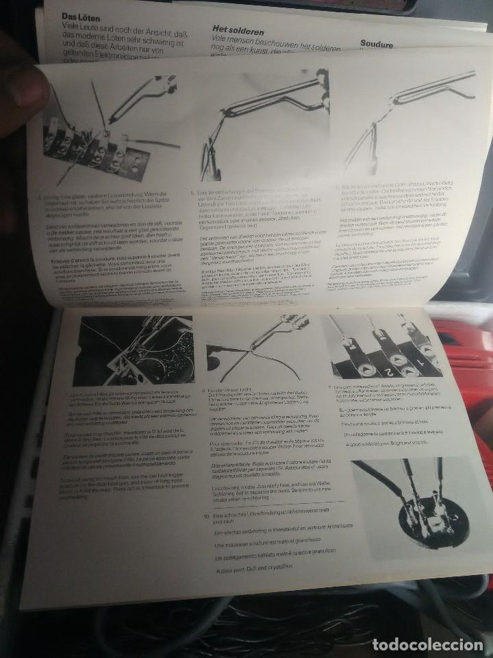 Radios antiguas: kit soldador de pistola marca Weller modelo 8100E/CA 100W 120V Y 220V. - Foto 3 - 104601795