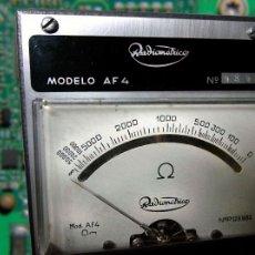 Radios antiguas: ANTIGUO OHMETRO, RADIOMETRICO AF4. Lote 91409550