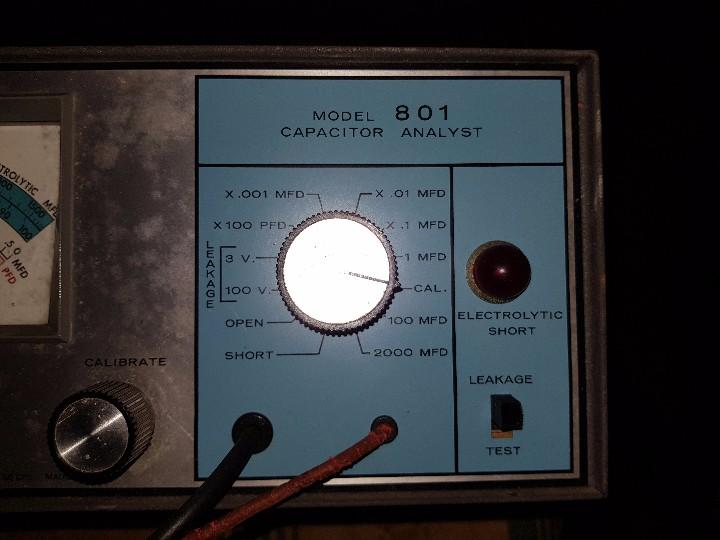 Radios antiguas: COMPROBADOR DE CONDENSADORES B&K 801 CAPACITOR ANALYST - Foto 2 - 103250683