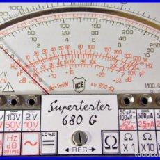 Radio antiche: SUPERTESTER ICE 680 G TESTER MILANO ITALY 891129. Lote 106695235