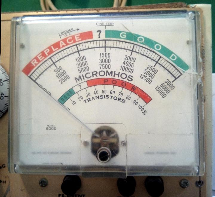 Radios antiguas: Comprobador de valvulas de radio y audio Hickok 6000...sanna - Foto 5 - 88952788