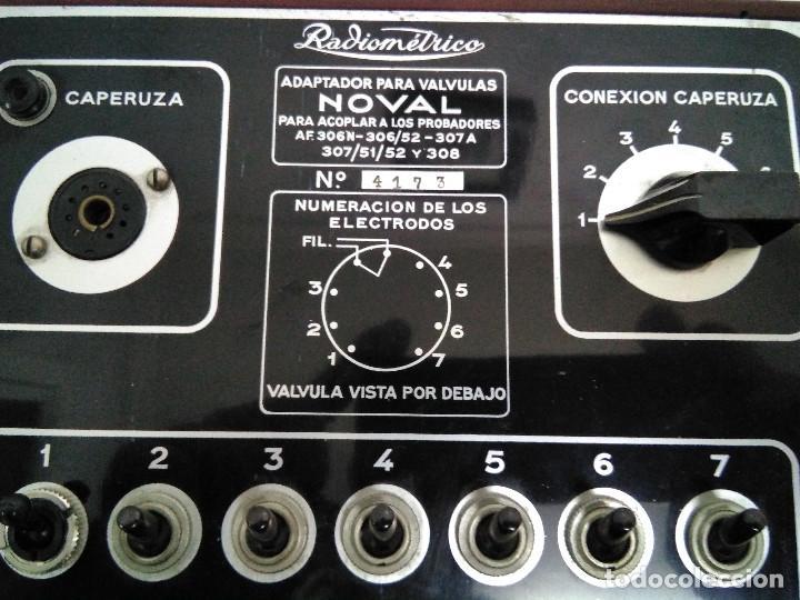ADAPTADOR PARA VALVULAS NOVAL RADIOMETRICO. (Radios - Aparatos de Reparación y Comprobación de Radios)