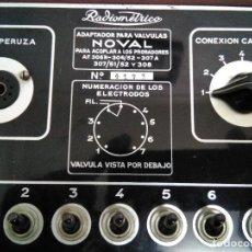 Radios antiguas: ADAPTADOR PARA VALVULAS NOVAL RADIOMETRICO.. Lote 112476703