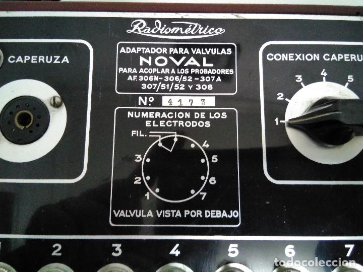 Radios antiguas: ADAPTADOR PARA VALVULAS NOVAL RADIOMETRICO. - Foto 3 - 112476703