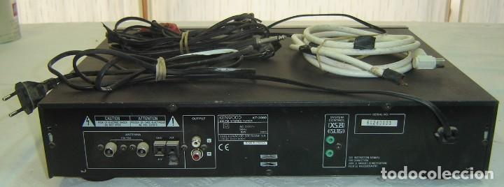 Radios antiguas: SINTETIZADOR DE RADIO AM-FM STEREO TUNER MARCA KENWOOD-MODELO KT-3080-AC 230V~-50Hz-10 W-MEDIDA 44*3 - Foto 2 - 114369443