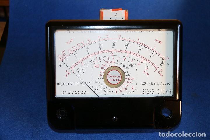 SIMSON - 269 AF INDICADOR DE PANEL PARA MULTIMETRO SIMSON (Radios - Aparatos de Reparación y Comprobación de Radios)