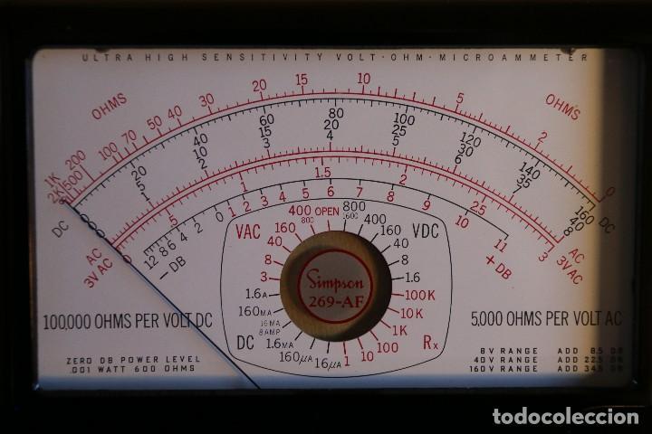 Radios antiguas: SIMSON - 269 AF INDICADOR DE PANEL PARA MULTIMETRO SIMSON - Foto 2 - 115018091