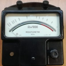 Radios antiguas: ANTIGUO MEDIDOR DE RESISTENCIA AÑOS 50. Lote 115176191