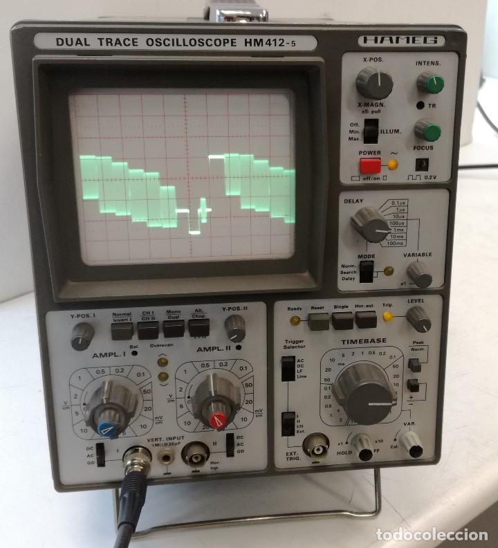 OSCILOSCOPIO ANALOGICO HAMEG HM412-5 AÑOS 80 (Radios - Aparatos de Reparación y Comprobación de Radios)