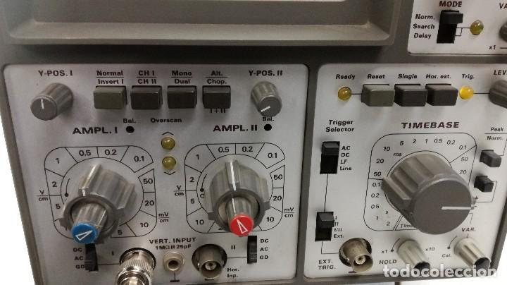 Radios antiguas: OSCILOSCOPIO ANALOGICO HAMEG HM412-5 Años 80 - Foto 4 - 115688079