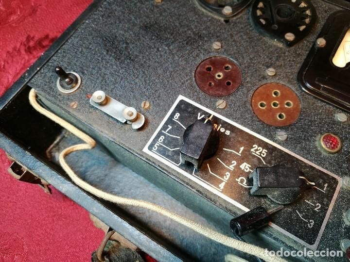 Radios antiguas: MALETIN COMPROBADOR DE VÁLVULAS ESCUELA DE RADIO MAYMO. CIRCA 1940. - Foto 16 - 123383951