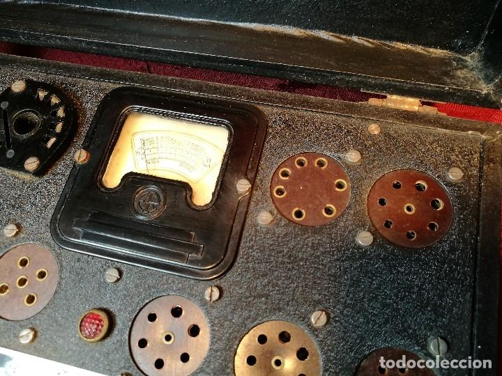 Radios antiguas: MALETIN COMPROBADOR DE VÁLVULAS ESCUELA DE RADIO MAYMO. CIRCA 1940. - Foto 18 - 123383951