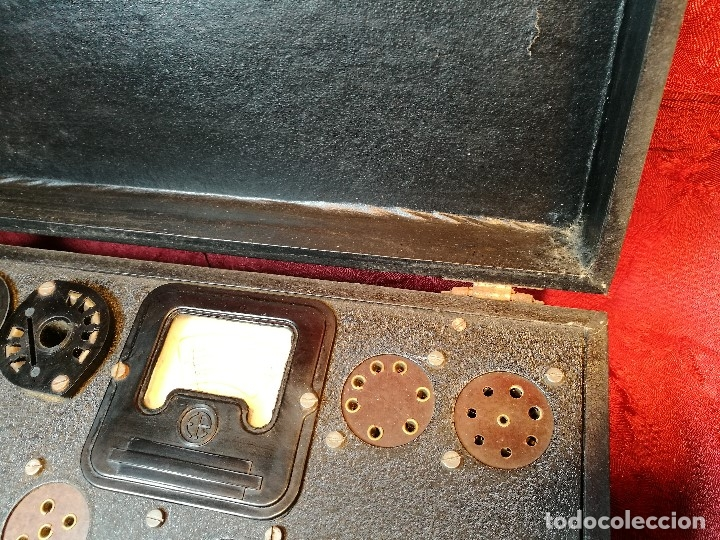 Radios antiguas: MALETIN COMPROBADOR DE VÁLVULAS ESCUELA DE RADIO MAYMO. CIRCA 1940. - Foto 19 - 123383951
