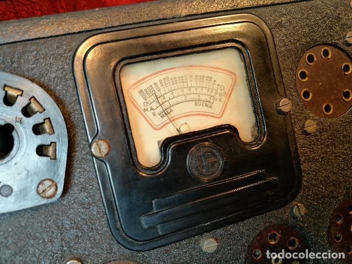 Radios antiguas: MALETIN COMPROBADOR DE VÁLVULAS ESCUELA DE RADIO MAYMO. CIRCA 1940. - Foto 20 - 123383951