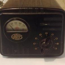 Radios antiguas: ELEVADOR REDUCTOR TENSION VOLTIMETRO GARAS BAQUELITA. Lote 173767428