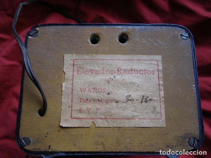 Radios antiguas: ELEVADOR REDUCTOR DE CORRIENTE , EN BAQUELITA MARCA ARANT - Foto 4 - 124208627