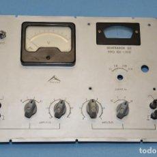 Radios antiguas: PANEL FRONTAL DEL GENERADOR DE B.F. PROMAX A VALVULAS GE 1502. Lote 128285255
