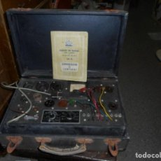 Radios antiguas: COMPROBADOR DE LAMPARAS VALVULAS MAYMO TODAS LAS MEDIDAS. Lote 128369055