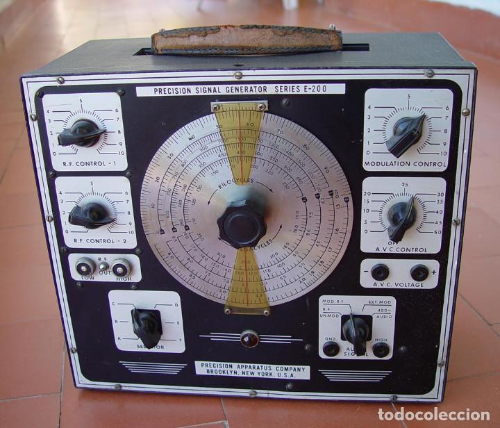 GENERADOR DE RF RADIO FRECUENCIA PRECISION E-200 SERIES....SANNA (Radios - Aparatos de Reparación y Comprobación de Radios)