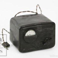 Radios antiguas: ANTIGUO AUTOTRANSFORMADOR DE BAQUELITA PARA RADIO DE VÁLVULAS - SALABÉ - NOVELDA, ALICANTE. Lote 130754952