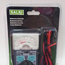 Radios antiguas: MULTIMETRO ANALOGICO SALKI EM-330-B. Lote 218034686