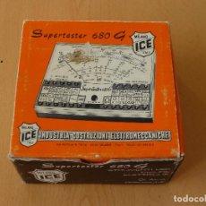 Radios antiguas: CAJA DE CARTON DEL SUPERTESTER 680 G DE ICE. Lote 137606442